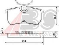 Тормозные колодки A.B.S. 37101 на Ford Fiesta / Форд Фиеста