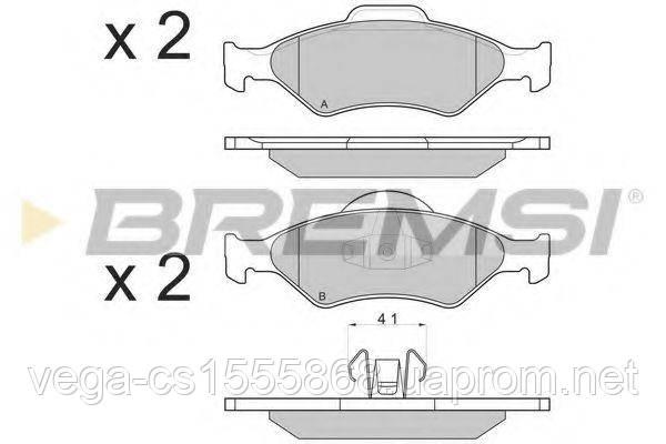 Тормозные колодки Bremsi BP2873 на Ford Fiesta / Форд Фиеста