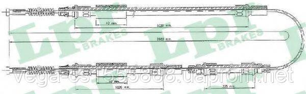 Трос ручного тормоза LPR C0280B на Ford Transit / Форд Транзит