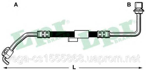 Тормозной шланг LPR 6T46218 на Ford Transit / Форд Транзит