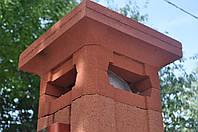 Заборный блок столб, столбовой элемент. 300х300х300