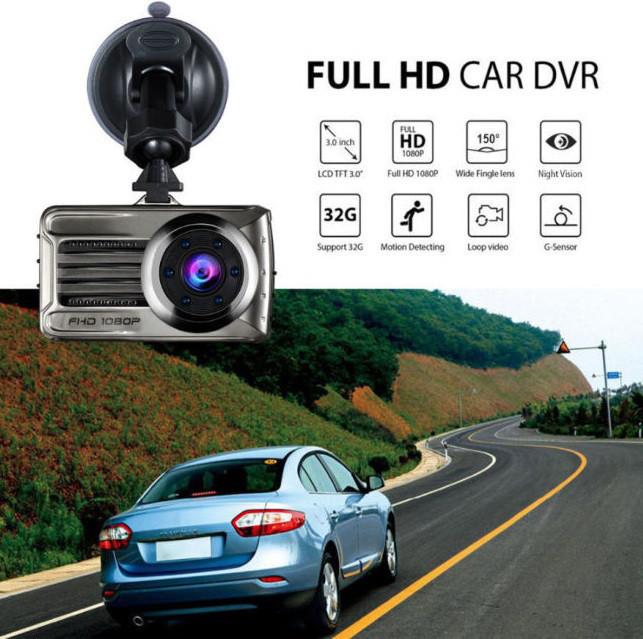Видеорегистратор универсальный 1 камера Blackbox DVR T666 Full HD 1080P 3 дюйма 1920х1080