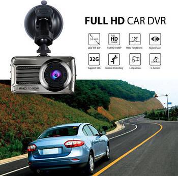 Відеореєстратор універсальний 1 камера Blackbox DVR T666 Full HD 1080P 3 дюйми 1920х1080