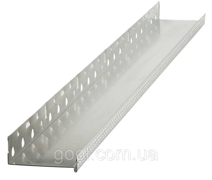 Профиль цокольный (стартовый) алюминиевый 103 мм. длина 2,0 м.п. (толщина алюминия 0,8 мм) - фото 1