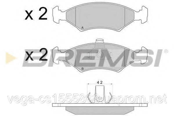 Тормозные колодки Bremsi BP2675 на Ford Fiesta / Форд Фиеста