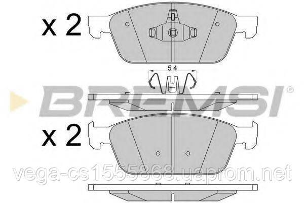 Тормозные колодки Bremsi BP3546 на Ford Kuga / Форд Куга