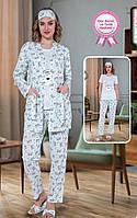 Пижама женская 100% хлопок. Пижама 5в1. Размеры: 42-44, 44-46, 46-48, 48-50., фото 1