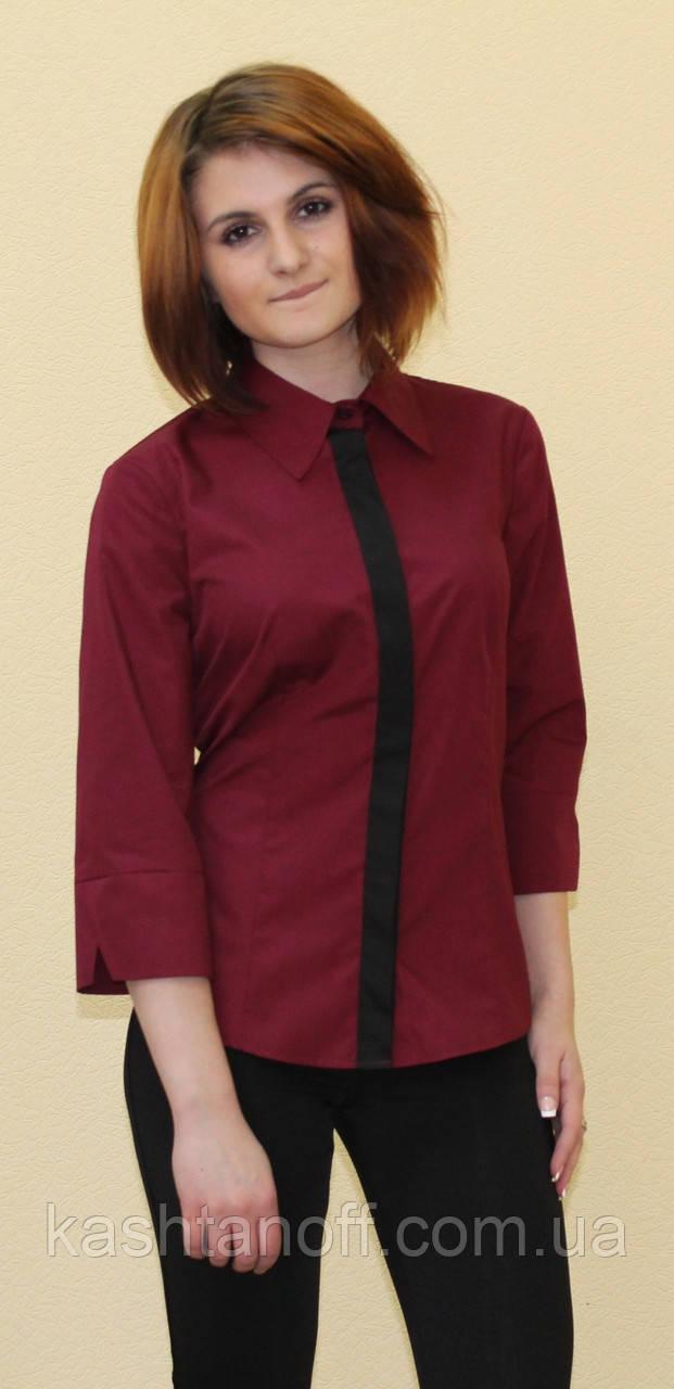 Бордова жіноча блуза