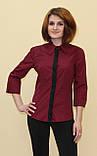 Бордова жіноча блуза, фото 2