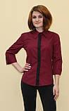 Бордова жіноча блуза, фото 4
