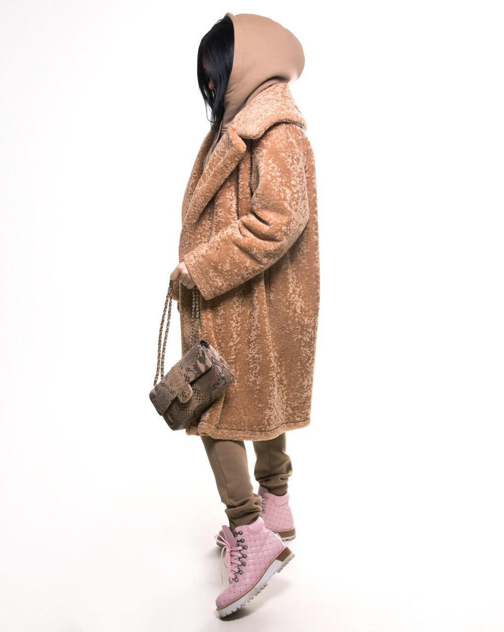 Экошуба Michelson, на утеплителе, увет Camel, размер S