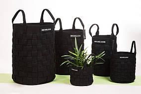 Корзина для вазонов, белья, игрушек, инструментов... от Michelson 18см*21см, черная