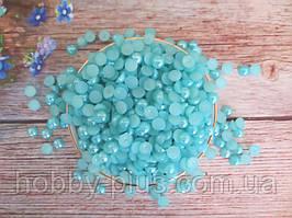Полубусины перламутровые, 8 мм, цвет бирюзовый, 10 грамм (76-80 шт)