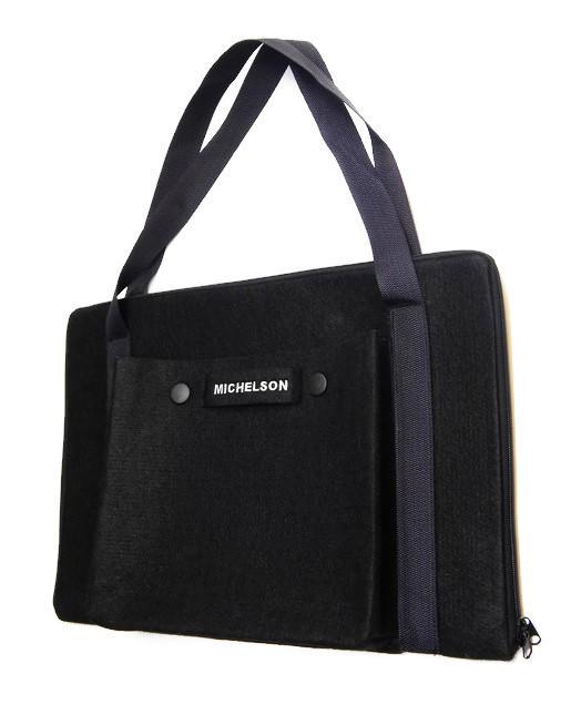 """Стильная сумка Michelson для ноутбука и документов 17.3"""", black"""
