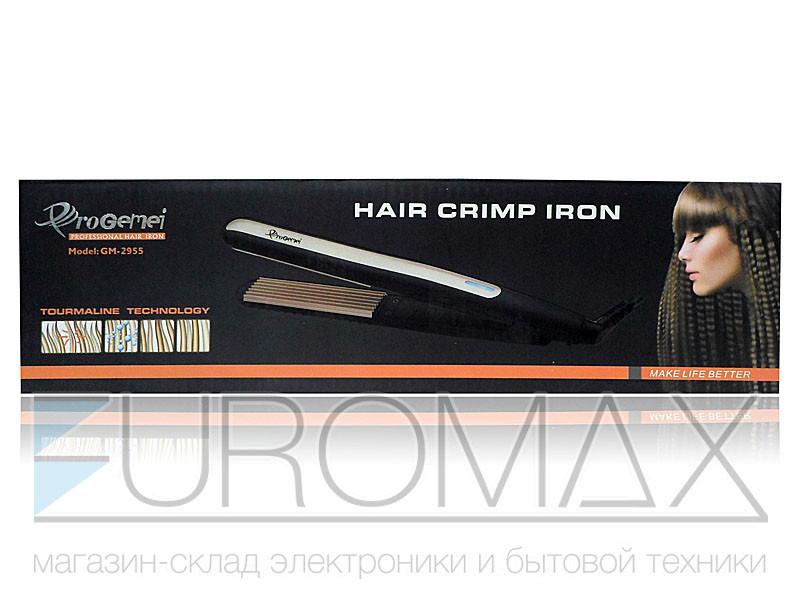 Утюжок для волос гофре Gemei GM-2955