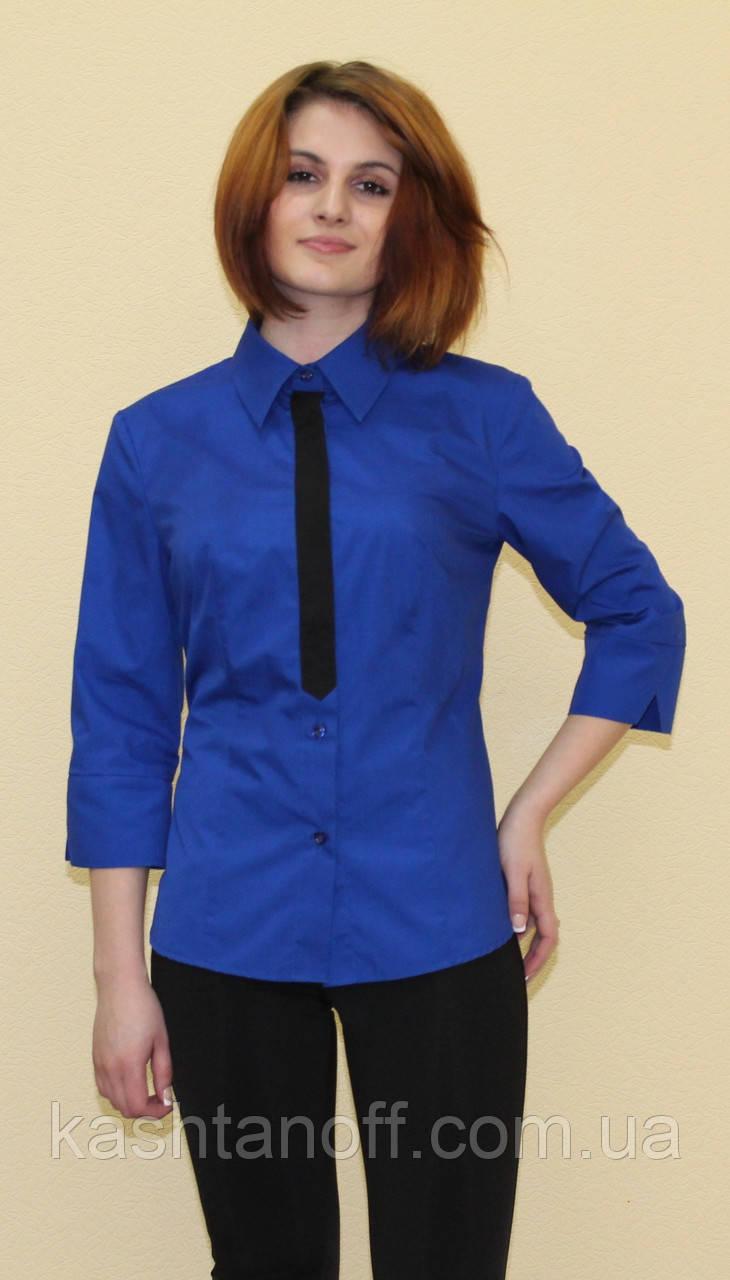 Синяя женская блуза