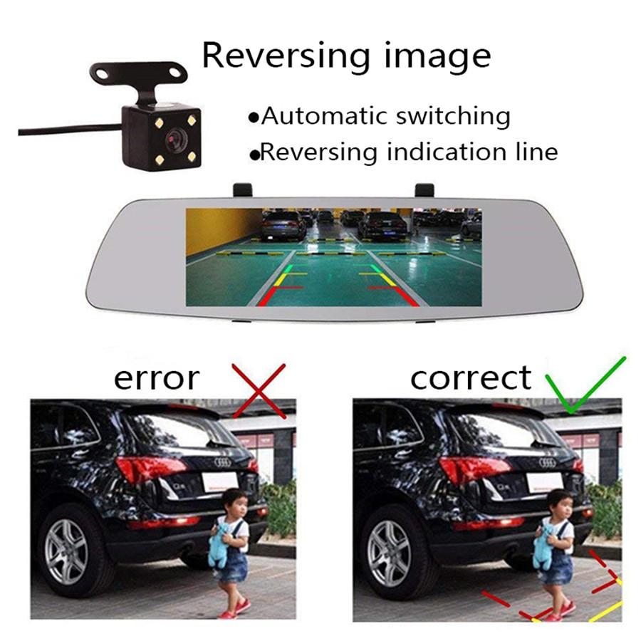 """Автомобильный регистратор Зеркало заднего вида 7"""" L1003 FullHD камера заднего вида USB microSD 32 Gb"""