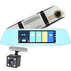 """Автомобильный регистратор Зеркало заднего вида 7"""" L1003 FullHD камера заднего вида USB microSD 32 Gb, фото 4"""