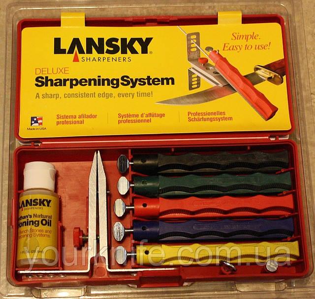 Точильная система на акранзаских камнях Lansky Deluxe Knife Sharpening System