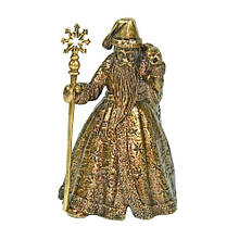 Сувенир колокольчик из бронзы Дед Мороз