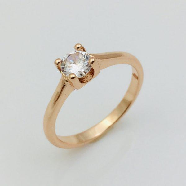 Кольцо классическое камушек, размер 18, 19