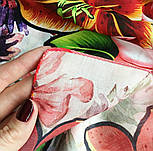 Палантин из вискозы 10695-5, павлопосадский палантин из вискозы, размер 65х200, фото 10