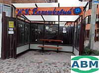 Зупинка громадського транспорту 3910х2370 скляна
