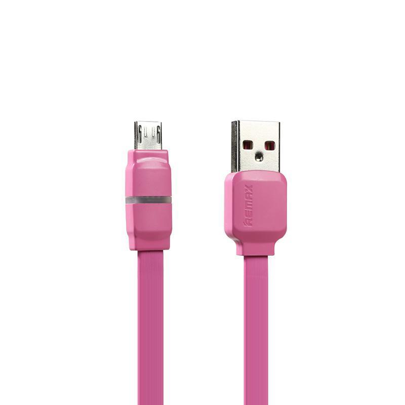 USB кабель Remax Breathe RC-29m microUSB Pink 1m
