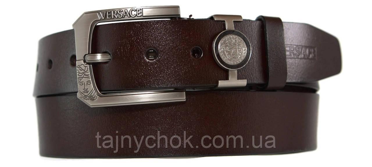Кожаный мужской ремень 40 мм Versace
