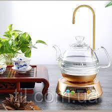 """Стеклянный электрический чайник с  сенсорным  подогревателем """"KAMJOVE"""""""