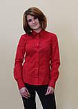 Красная женская блуза, фото 5