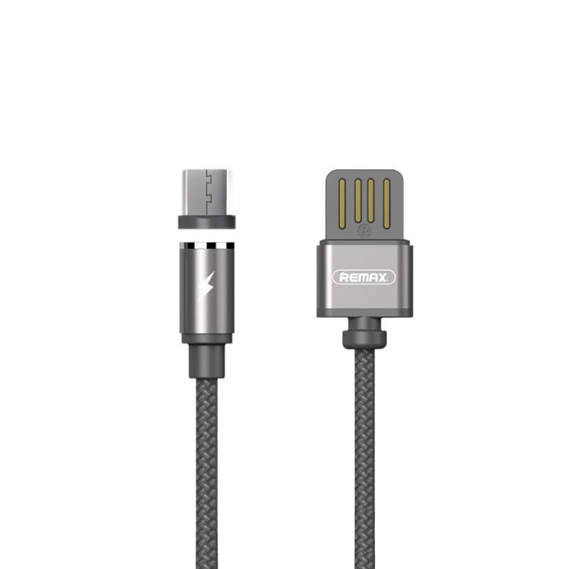 USB кабель Remax Gravity RC-095m MicroUSB Grey 1m