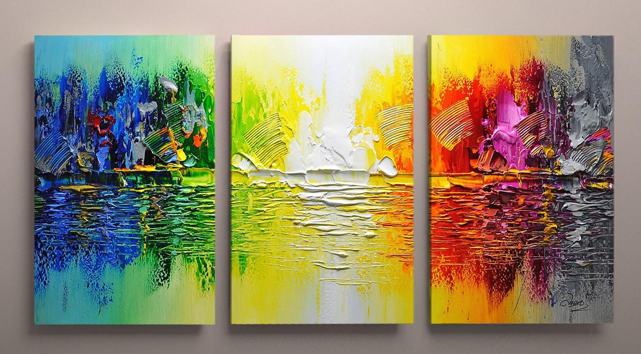 Картина модульная озеро 90х60