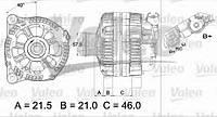 Генератор Valeo 437432 на Ford Fiesta / Форд Фиеста