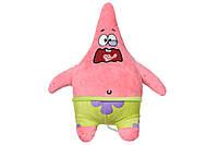 Мягкая музыкальная игрушка sponge bob eu690903 exsqueeze me plush patrick burp
