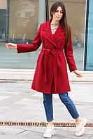 Женское кашемировое пальто двубортное, фото 1