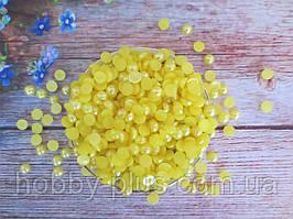 Полубусины перламутровые, 8 мм, цвет желтый, 10 грамм (74-78 шт)