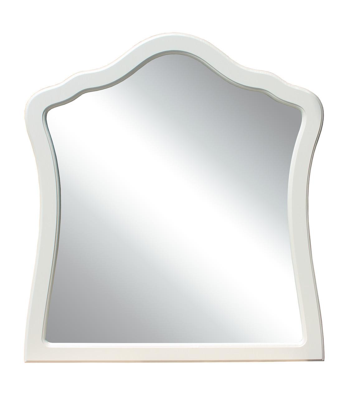 """Зеркало """"Лючия"""" 80х74 см. Белый, Орех светлый"""