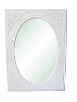 """Зеркало вертикальное """"Анжелика"""" 80х110 см. Белый матовый, фото 1"""