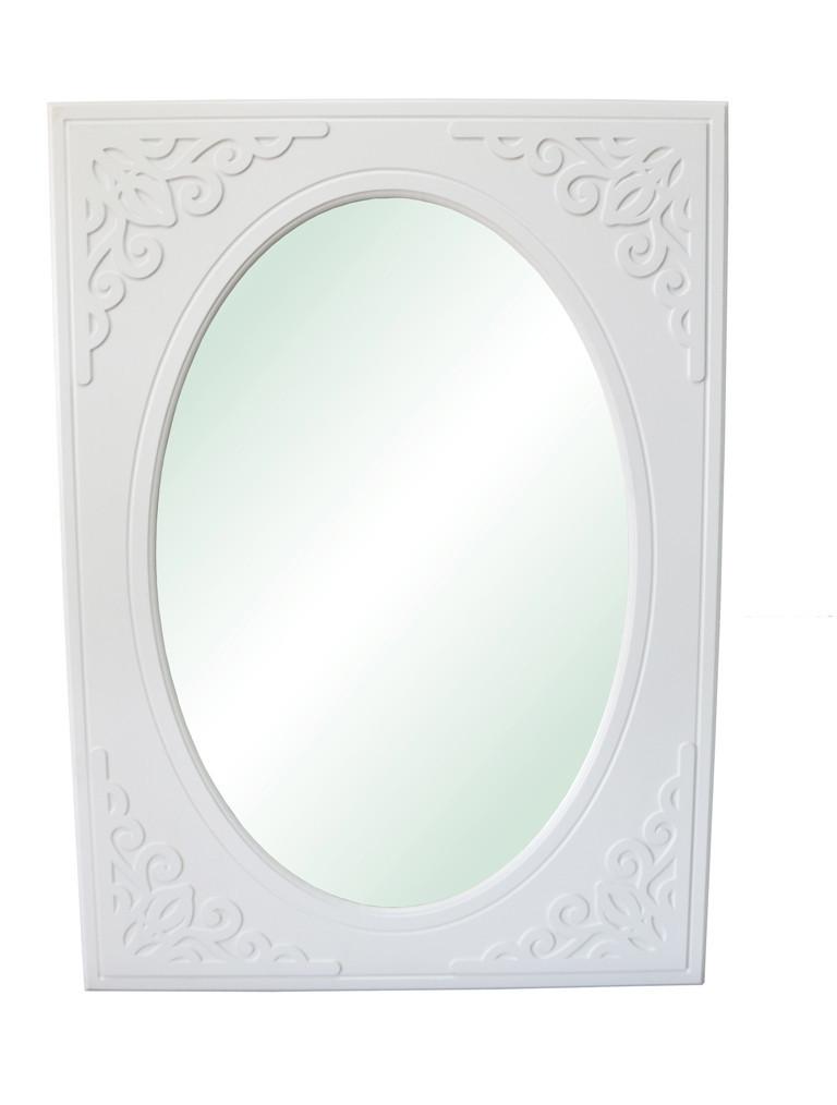 """Зеркало вертикальное """"Анжелика"""" 80х110 см. Белый матовый"""