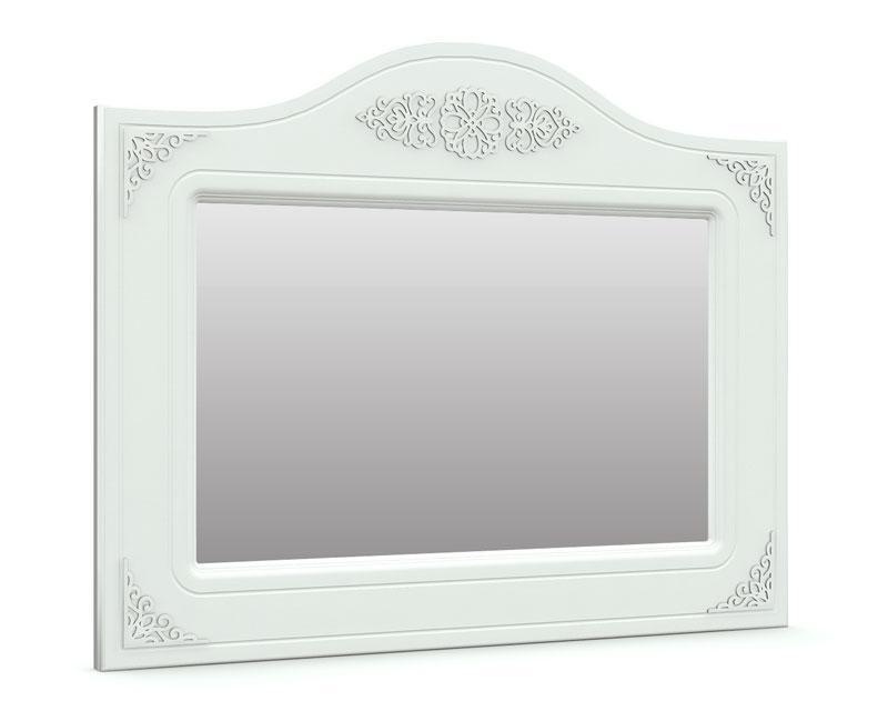 """Зеркало горизонтальное """"Анжелика"""" 100х76 см. Белый матовый"""