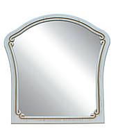 "Зеркало С03 ""Альба"" 88х88 см. Белый супермат, Орех светлый, фото 1"