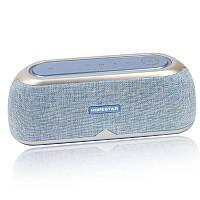 Портативная акустическая Bluetooth колонка Hopestar A4 голубая - 140047