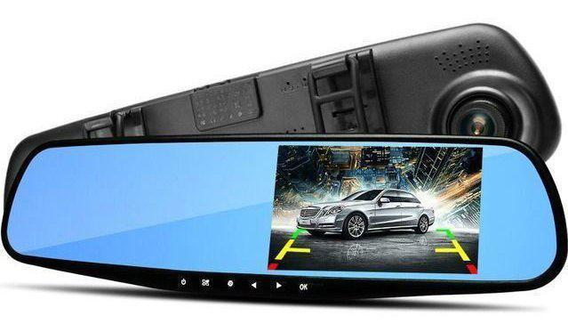 Зеркало видеорегистратор1 камера DVR L 6000 Full HD авторегистратор на зеркало стандартный универсальный
