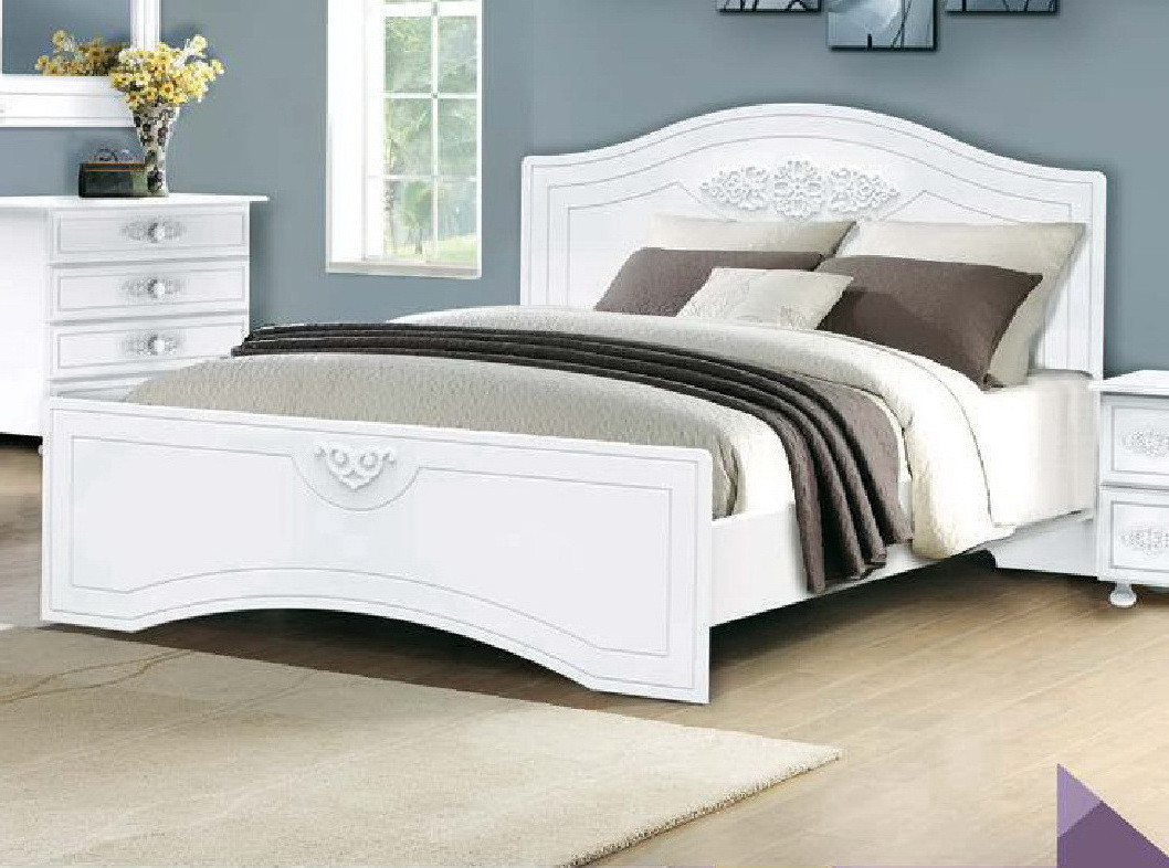 """Кровать """"Анжелика"""" Белый матовый"""