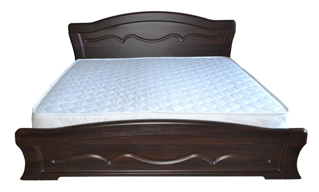 """Кровать """"Виолетта"""" Дуб Сонома, Орех темный"""