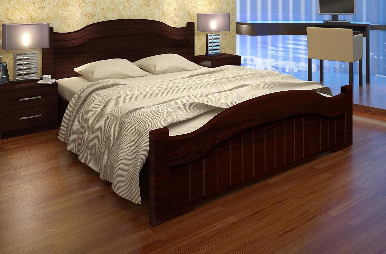 """Кровать """"Доминика"""" Орех тёмный, Орех светлый"""