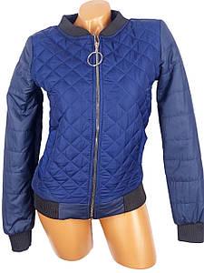 Стеганая курточка-бомбер 44-50 (в расцветках)