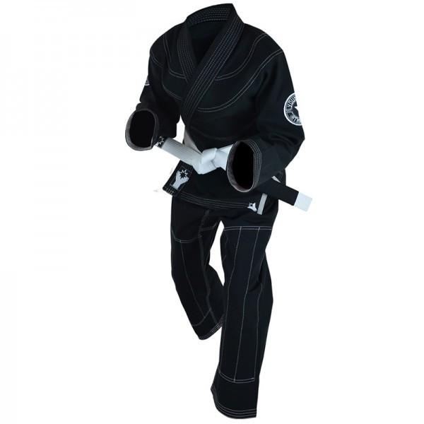 Детское кимоно для бразильского Джиу-Джитсу COMBAT CORNER YoungStar Черное