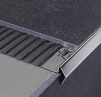 Угловой профиль из нержавеющей стали для защиты ступеней SI h=8 мм